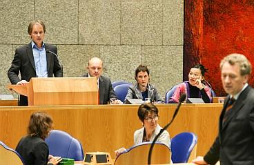Harry van Bommel during last week's debate on the Lisbon Treaty.