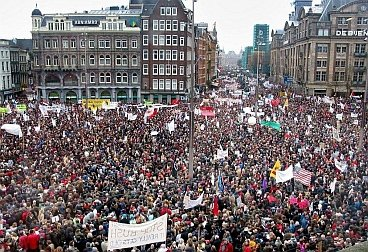 Demonstration against the war in Amsterdam