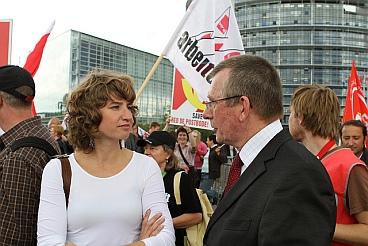 Dennis de Jong and Sharon Gesthuizen