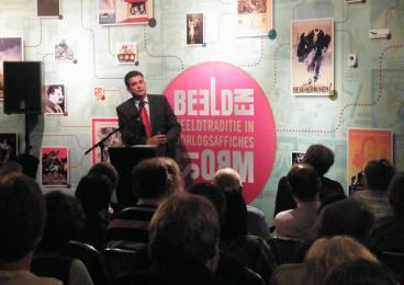 Emile Roemer speaks at the Museum of the Resistance in Gouda