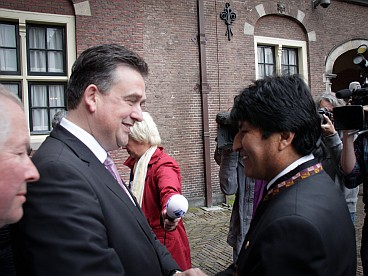 Emile Roemer and Evo Morales