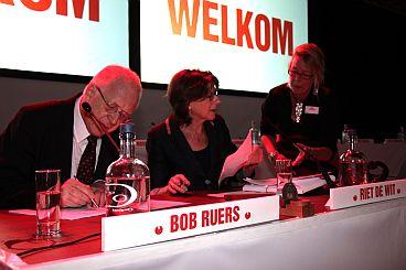 Congresvoorzitters Bob Ruers en Riet de Wit