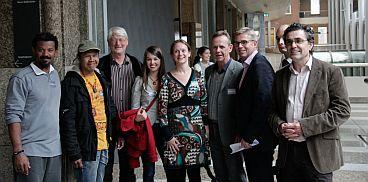 Henk van Gerven and the Brazillian delegation