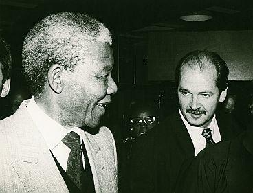 Nelson Mandela en Jan Marijnissen