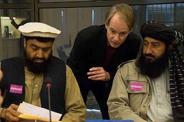 Harry van Bommel with Noor Behram and Karim Khan