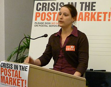 Cornelia Berger of international postal workers' trade union federation