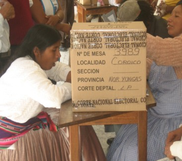 Voting in Coroico