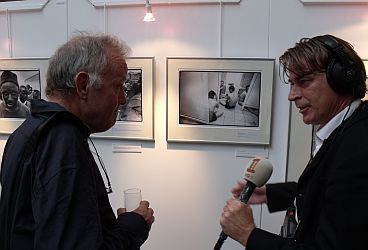 Piet den Blanken being interviewed by the Netherlands' Radio 1
